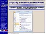 preparing a workbook for distribution