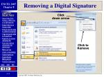 removing a digital signature