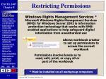 restricting permissions