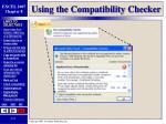 using the compatibility checker
