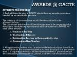 awards @ gacte