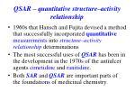 qsar quantitative structure activity relationship