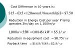 cost difference in 10 years is