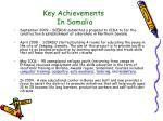 key achievements in somalia