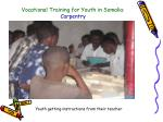 vocational training for youth in somalia carpentry