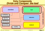 baby components divide and conquer the tool