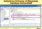 babydemo universe of discourse interface networkintf