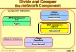 divide and conquer the network component