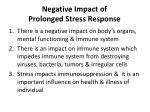 negative impact of prolonged stress response