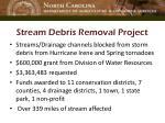 stream debris removal project
