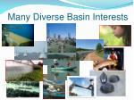 many diverse basin interests