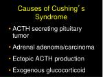 causes of cushing s syndrome