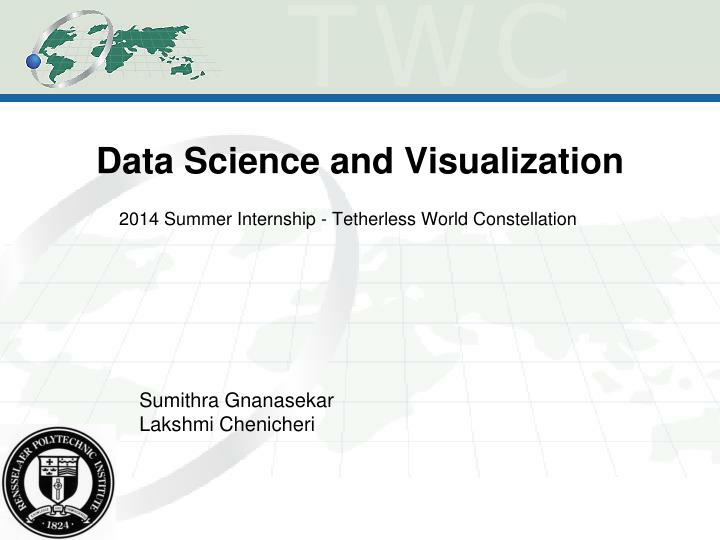 data science and visualization n.