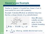 gauss s law example