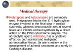 m edical therapy