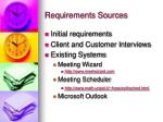 requirements sources