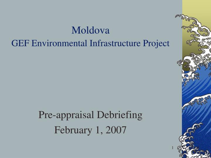 moldova gef environmental infrastructure project n.