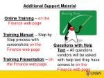 additional support material