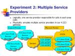 experiment 2 multiple service providers