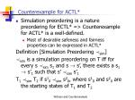 counterexample for actl