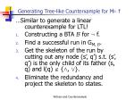 generating tree like counterxample for m f