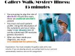 gallery walk mystery illness 15 minutes