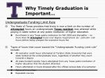 why timely graduation is important