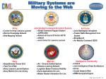 military systems are moving to the web