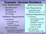 example german numbers