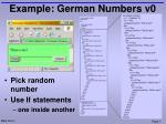 example german numbers v0