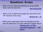 questions arrays