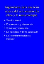 argumentos para una tesis acerca del acto creador la tica y la musicoterapia