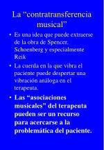 la contratransferencia musical