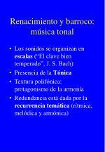renacimiento y barroco m sica tonal
