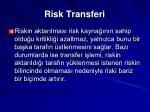 risk transferi