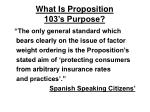 what is proposition 103 s purpose