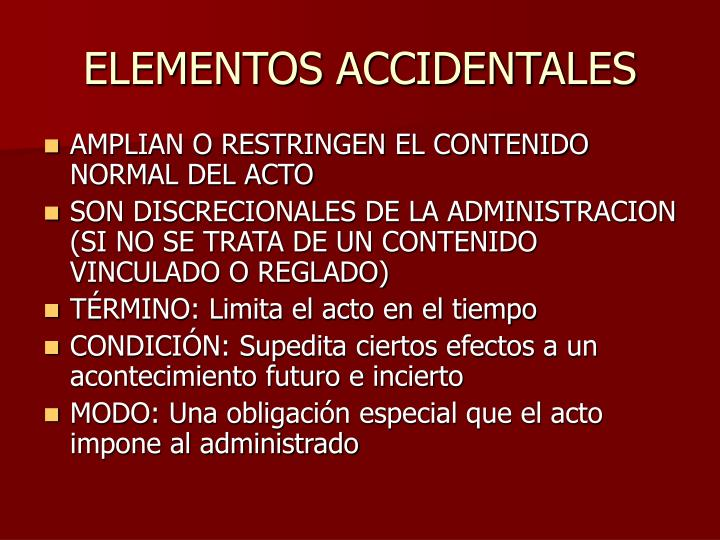 ELEMENTOS ACCIDENTALES