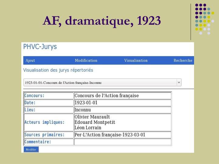 AF, dramatique,