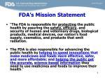 fda s mission statement