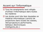 accent sur l informatique