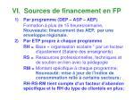 vi sources de financement en fp1