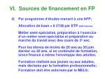 vi sources de financement en fp3