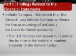 part ii findings related to the financial statements1