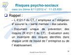 risques psycho sociaux cass civ 2 me 8 11 2012 n 11 23 855