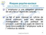 risques psycho sociaux cass civ 2 me 8 11 2012 n 11 23 8552