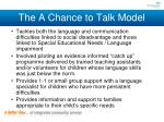 the a chance to talk model1