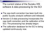 the current status of the suzaku xis software data processing for the sci