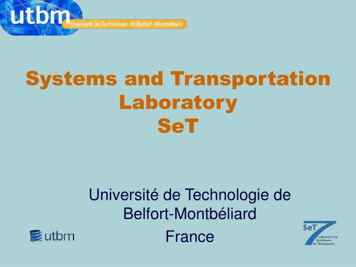 systems and transportation laboratory set n.