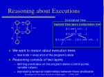reasoning about executions