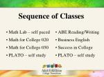 sequence of classes